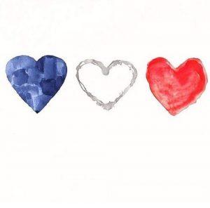 Coeur Bleu Blanc Rouge
